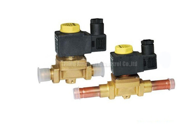 Brass 2 Way Brass Solenoid valve Castel Equivalent For Refrigeration System